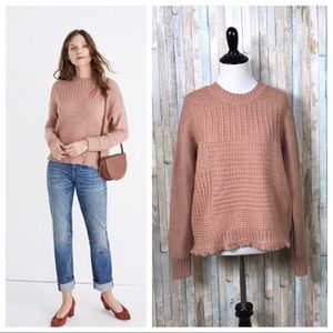 Madewell XS Textured Mixstitch Pullover Sweater